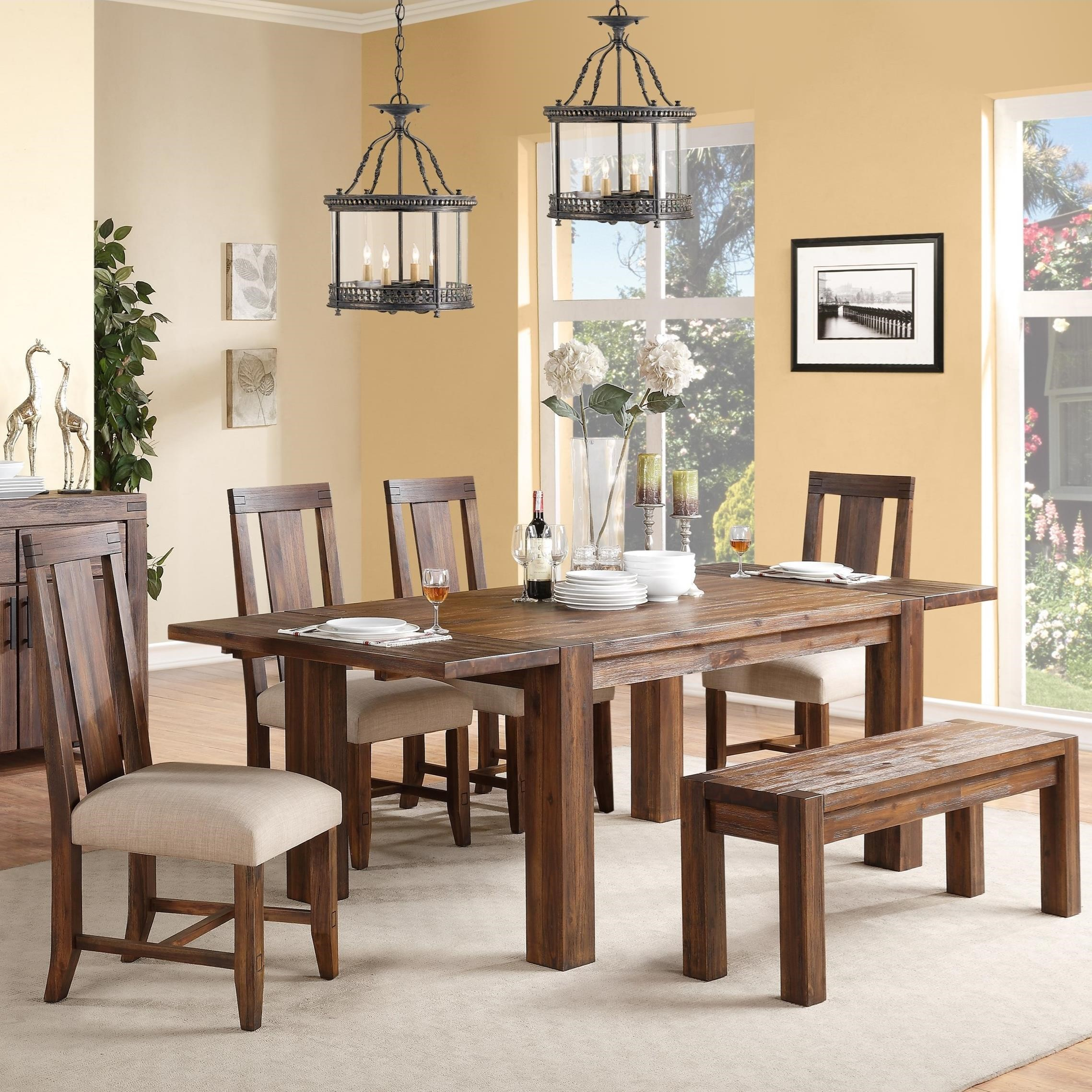 Modus International Meadow 6 Piece Dining Package - Item Number: 3F4161+3F4191+4x3F4166P