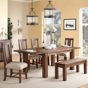 Modus International Camden Fields Dining Table & Chair Set with Bench