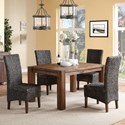 Modus International Meadow 5-Piece Table & Chair Set - Item Number: 3F4161+4x3F4166