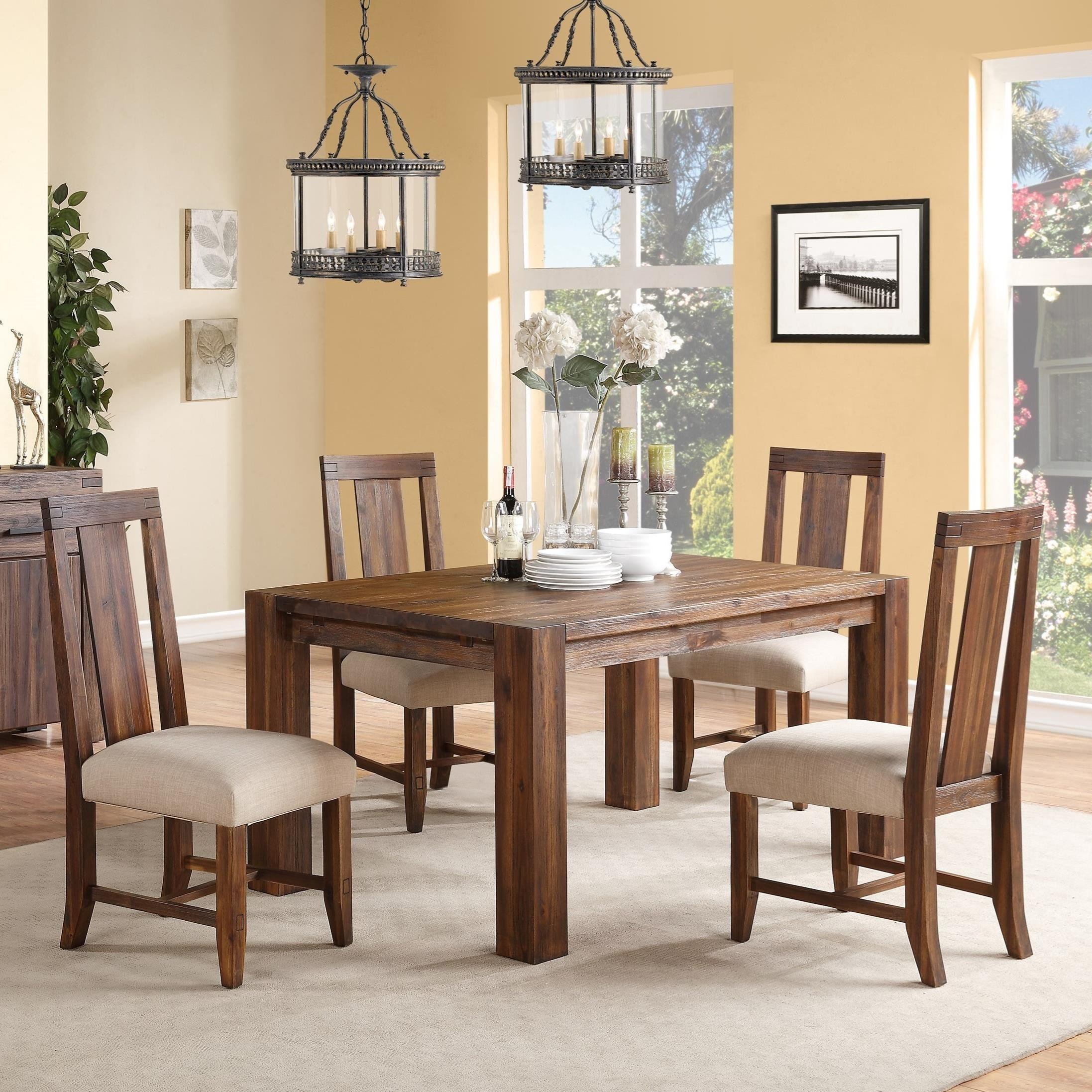 Modus International Meadow 5 Piece Dining Package - Item Number: 3F4161+4x3F4166P