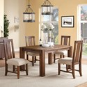 Modus International Meadow 5-Piece Table & Chair Set - Item Number: 3F4161+4x3F4166P