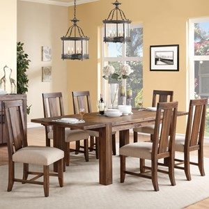 Modus International Meadow Dining 7 Piece Table & Chair Set