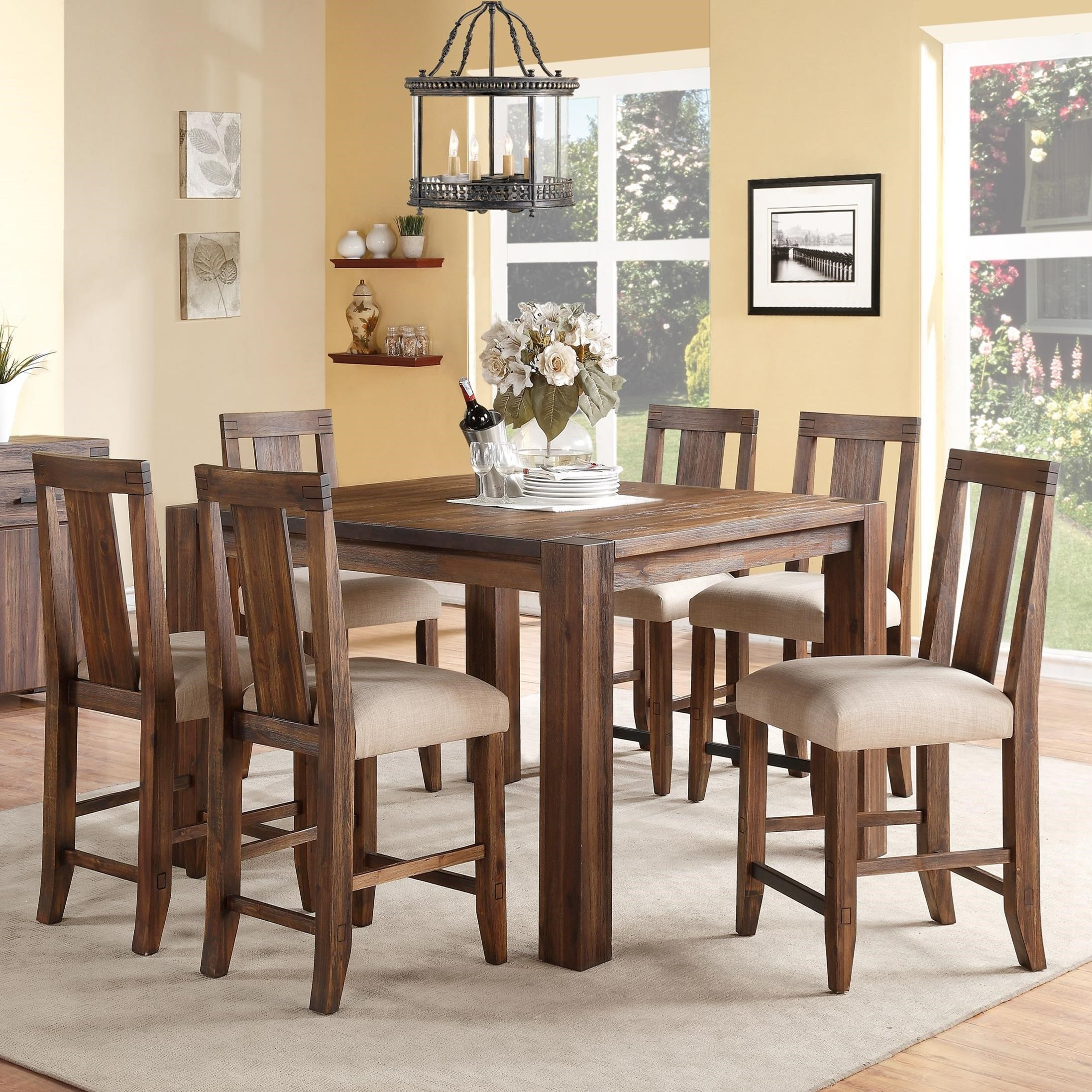 7-Piece Square Counter Table Set