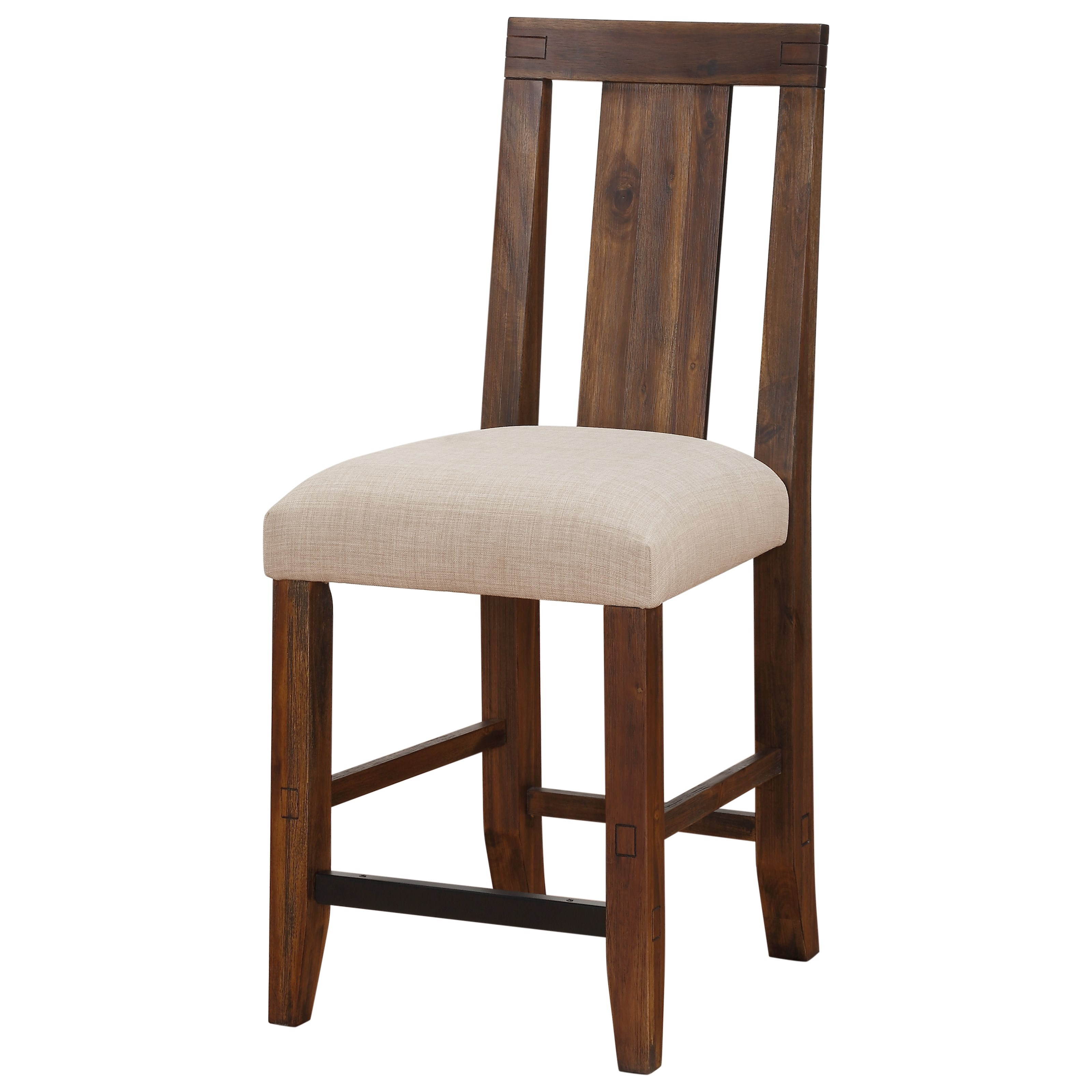 Solid Wood Upholstered Counter Stool