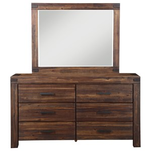 6-Drawer Dresser and Mirror