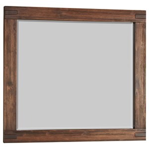 Modus International Meadow Bedroom Mirror with Wood Frame
