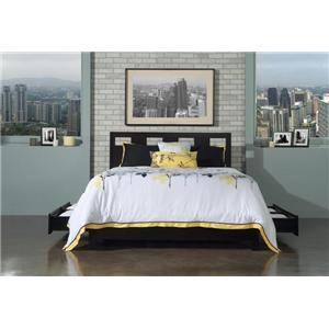 Modus International Nevis 4 Piece King Size Contemporary Bedroom Group