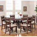 Modus International Portland 7-Piece Table and Chair Set - Item Number: 7Z4861+6x7Z4866
