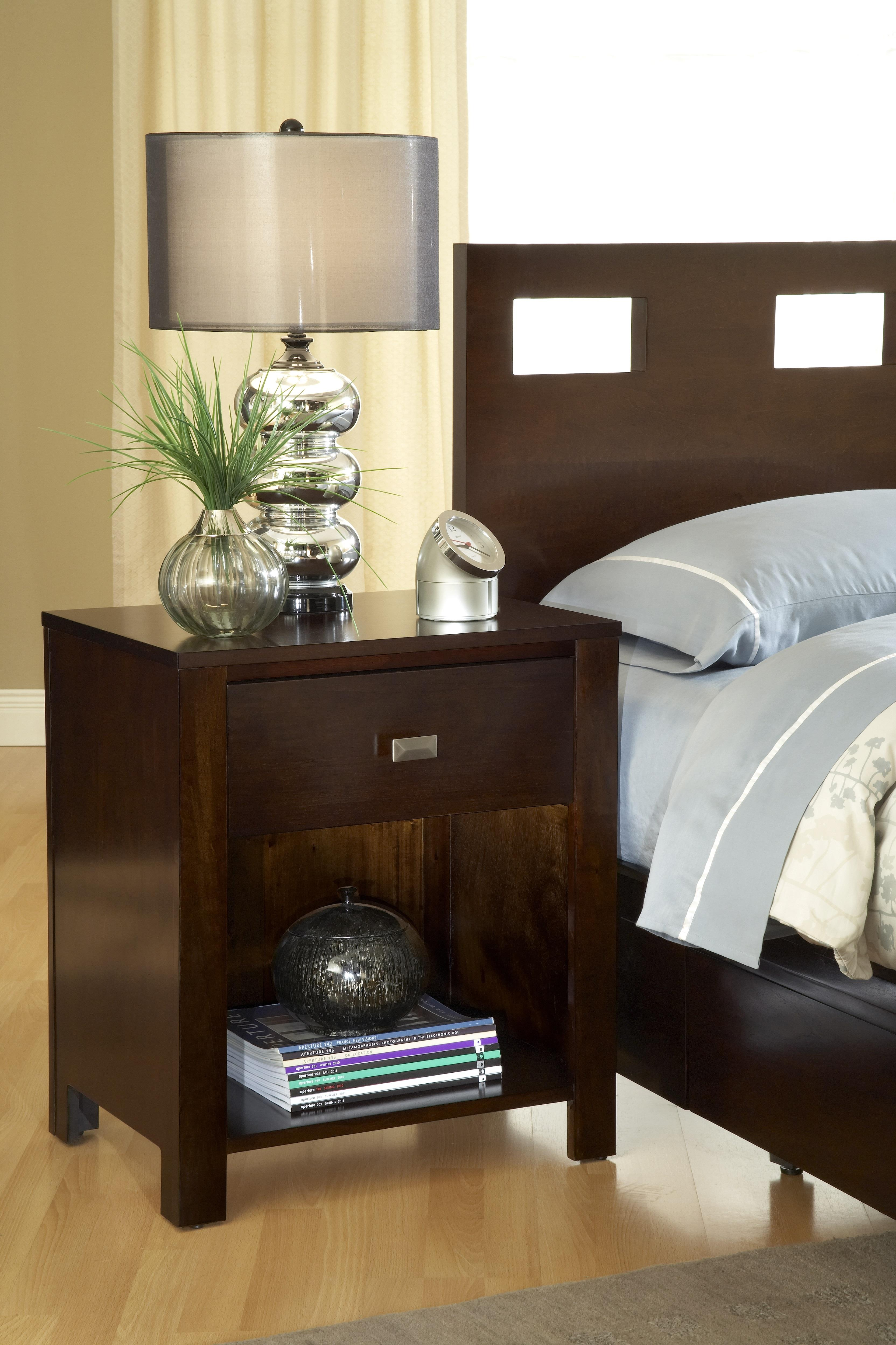 Modus International Riva 1 Drawer Nightstand - Item Number: Rv 26 81 Riva