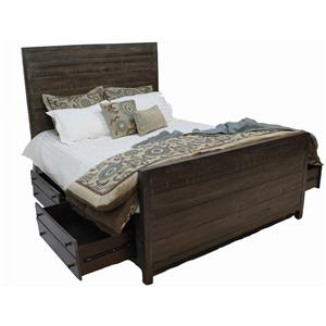 Modus International 8T-06 Solid Wood Storage Bed