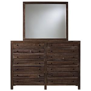 Modus International Townsend 8 Drawer Dresser and Mirror