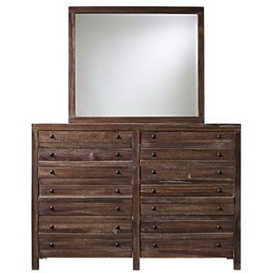 Modus International Trenton 8-Drawer Dresser with Mirror