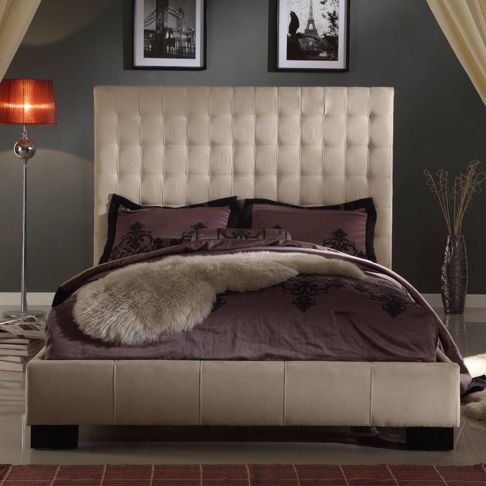 Cute Upholstered King Bedroom Set Painting