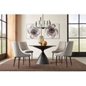 Modus International Winston 5-Piece Table and Chair Set - Item Number: FMBF60+4x63