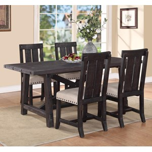Modus International Yosemite 5-Piece Rectangular Dining Table Set