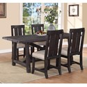 Modus International Yosemite 5-Piece Rectangular Dining Table Set - Item Number: 7YC961+4x966W