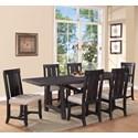 Modus International Yosemite 7-Piece Rectangular Dining Table Set - Item Number: 7YC961+6x966W