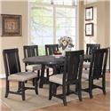 Modus International Yosemite Cafe Dining Table and Chair Set - Item Number: 7YC961R+6X-7YC966W