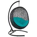 Modway Encase Outdoor Lounge Chair - Item Number: EEI-739-TRQ-SET