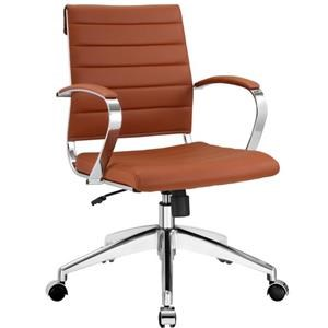 Jive Mid Back Office Chair In Terracotta