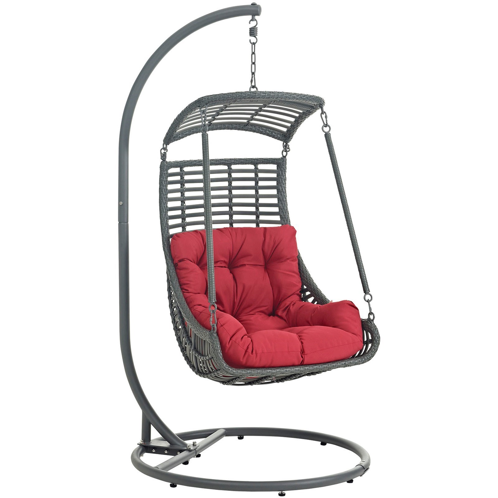 Modway Jungle Outdoor Patio Swing Chair With Stand Value City