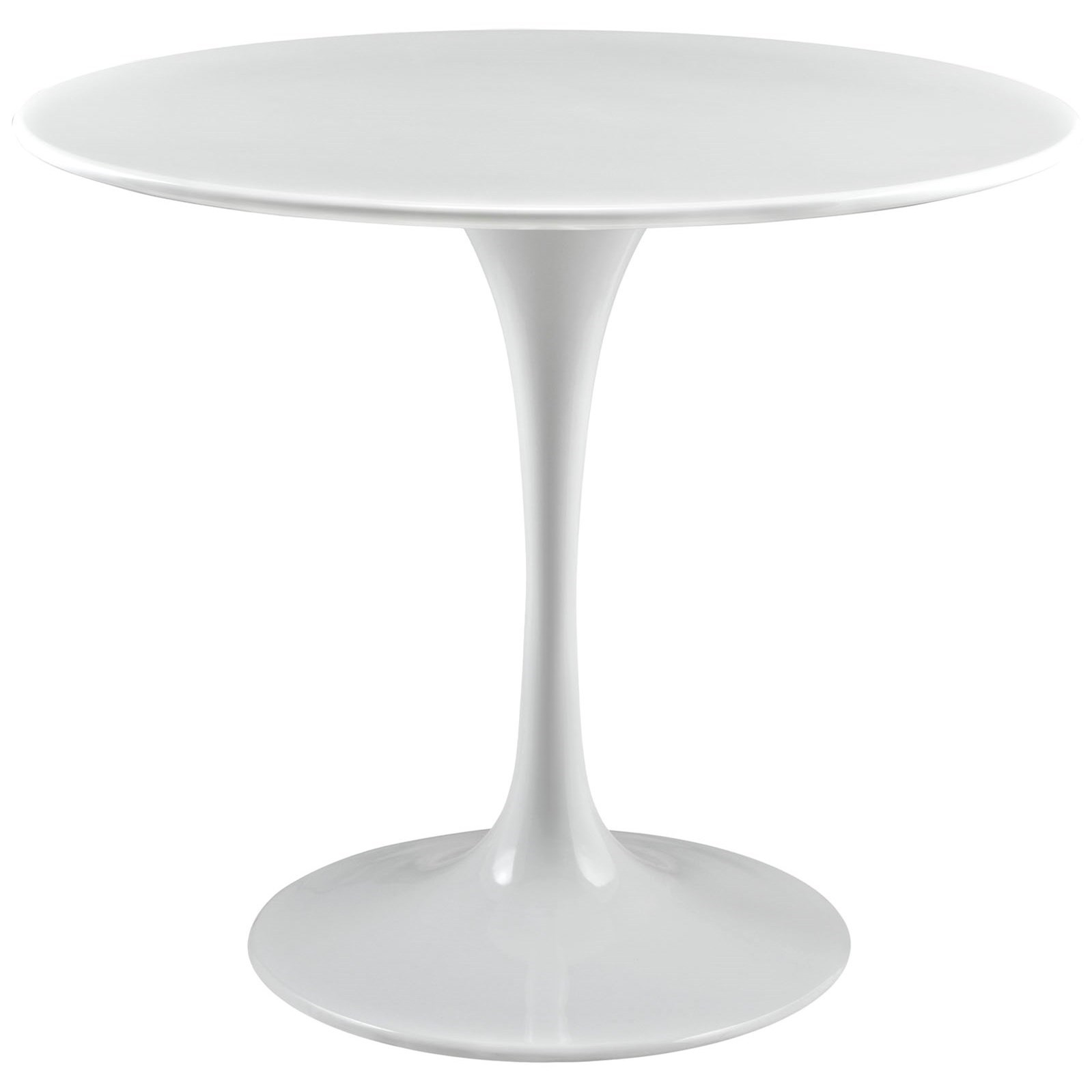 Modway Lippa White Eei 1116 Whi 36 Round Top Dining Table Del Sol Furniture Dining Tables