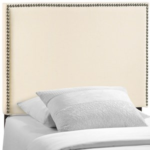 Twin Nailhead Upholstered Headboard