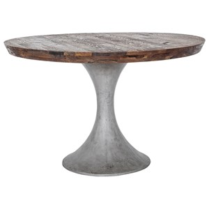 Round Concrete Base Dining Table