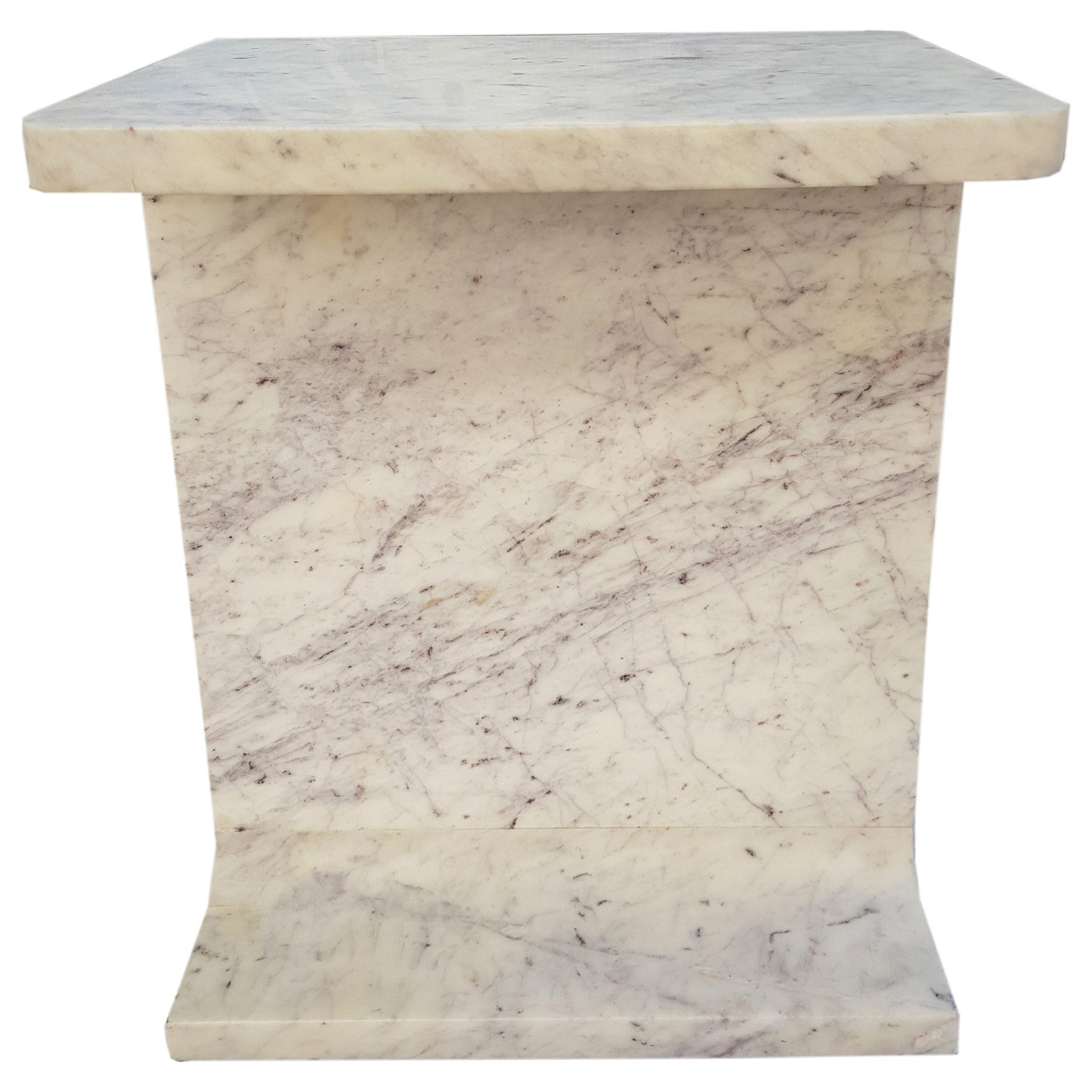 White Marble Accent Table