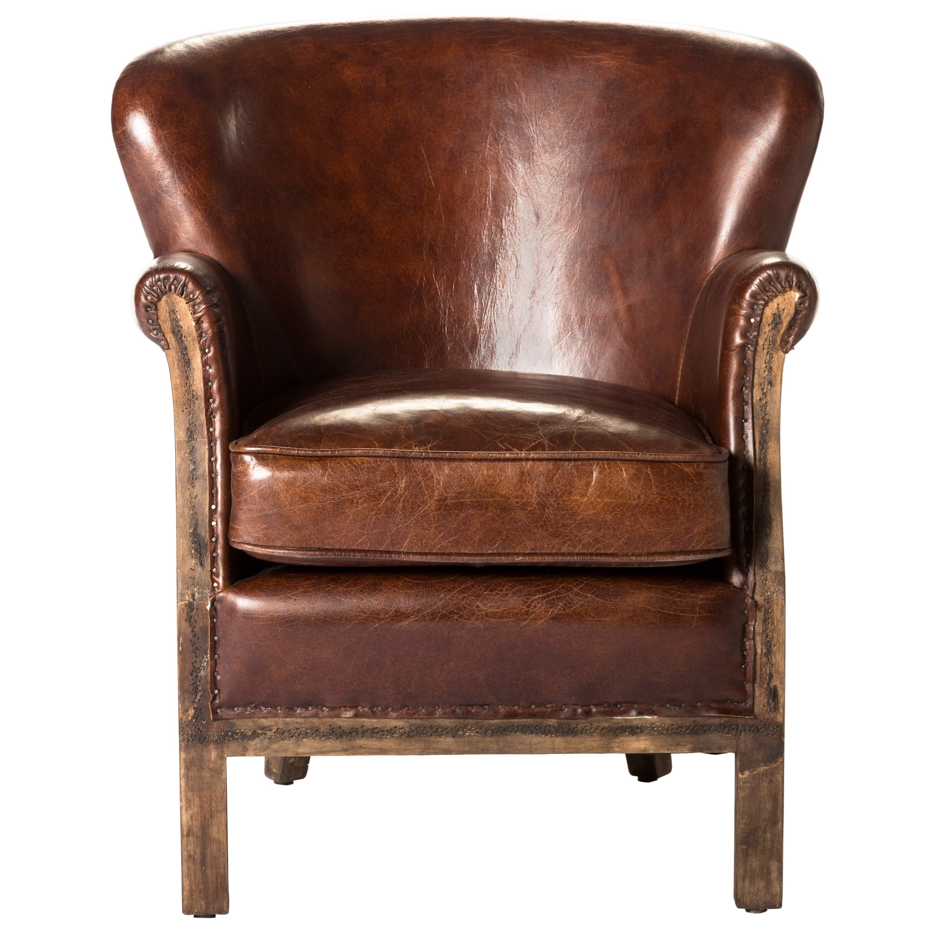 Moe's Home Collection Abbey  Club Chair - Brown - Item Number: PK-1039-20