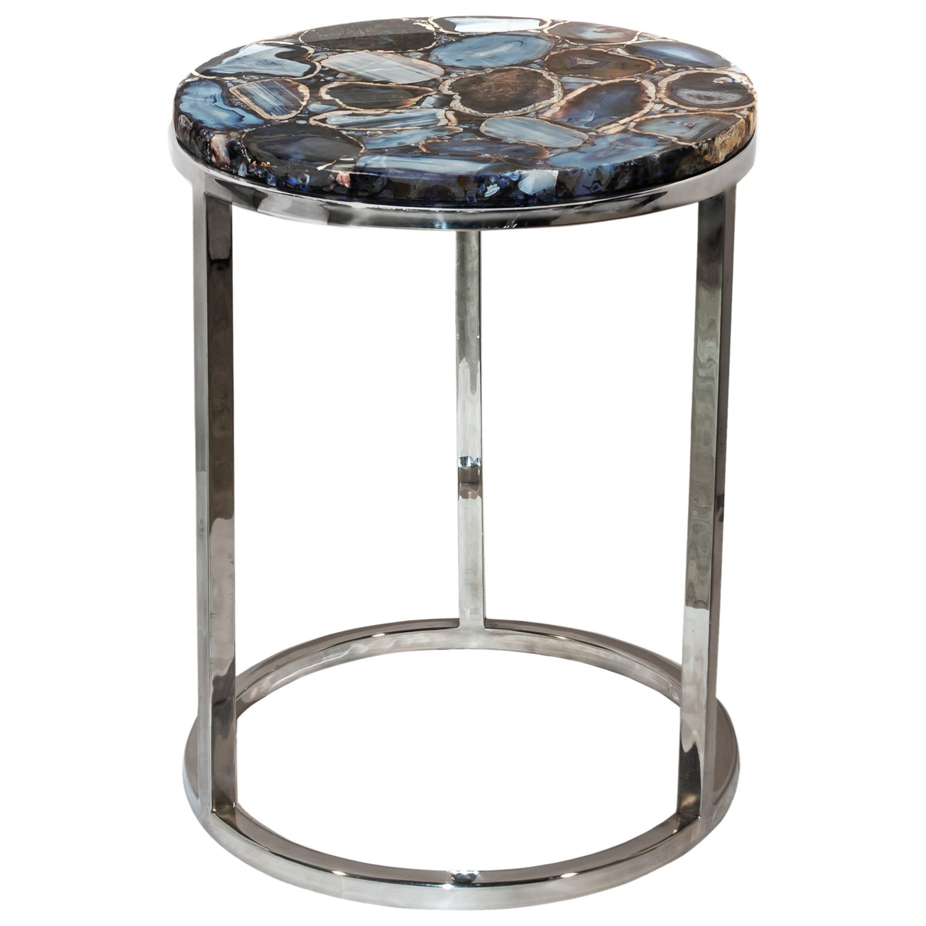 Accent Tables Shimmer Agate Accent Table by Moe's Home Collection at Fashion Furniture