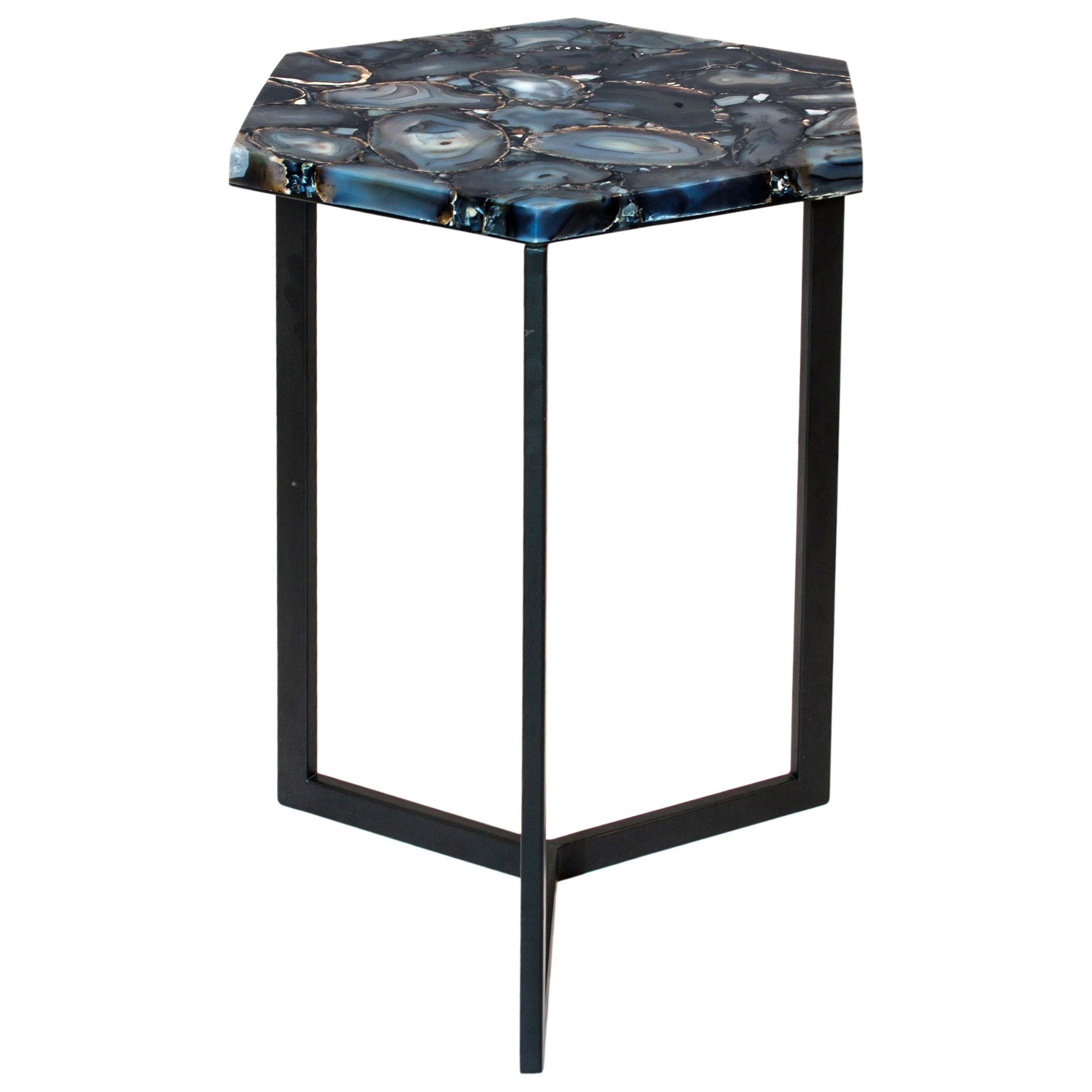 Hexagon Agate Accent Table