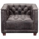 Moe's Home Collection Aekerman Top Grain Leather Club Chair - Item Number: PK-1085-47