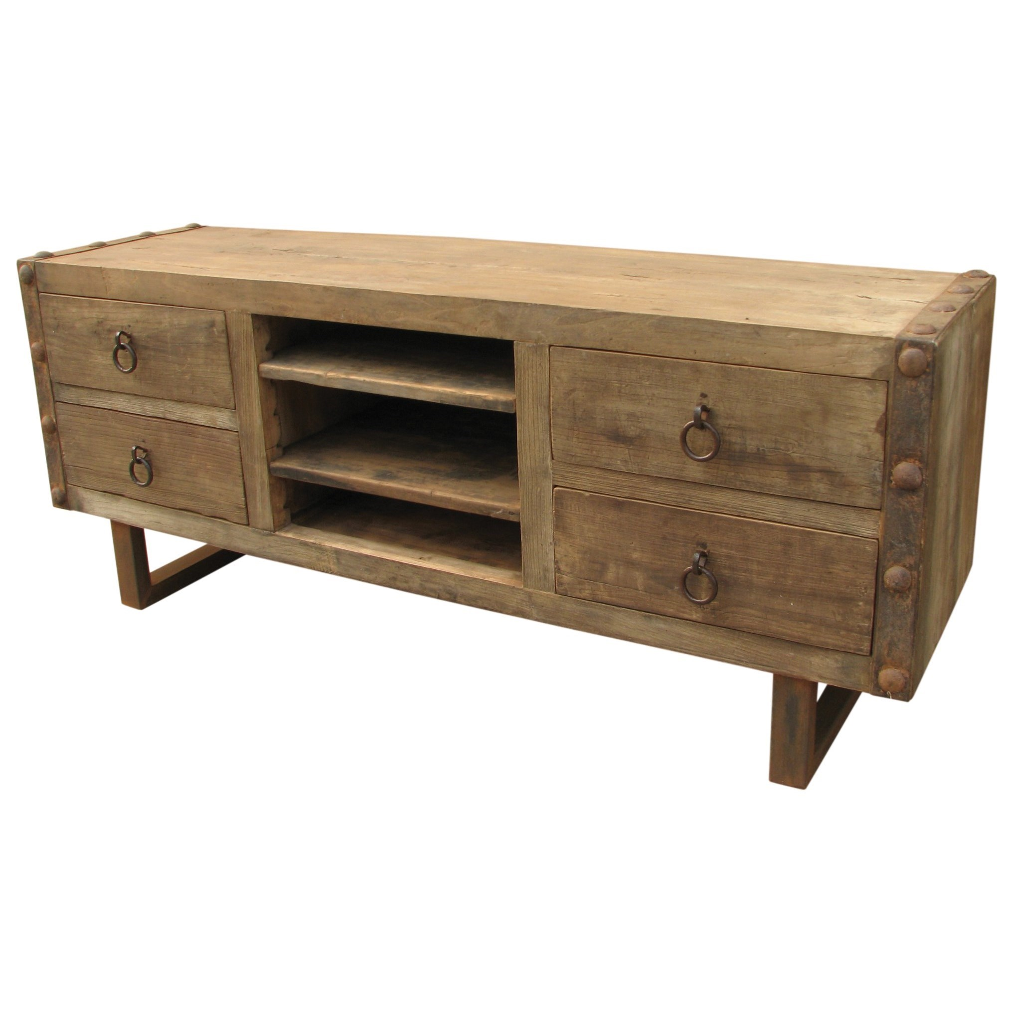 Moe's Home Collection Agio  Entertainment Unit Natural  - Item Number: XA-1011-24