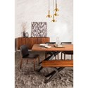 Moe's Home Collection Air Loft Industrial Dining Table with Splayed Iron Base