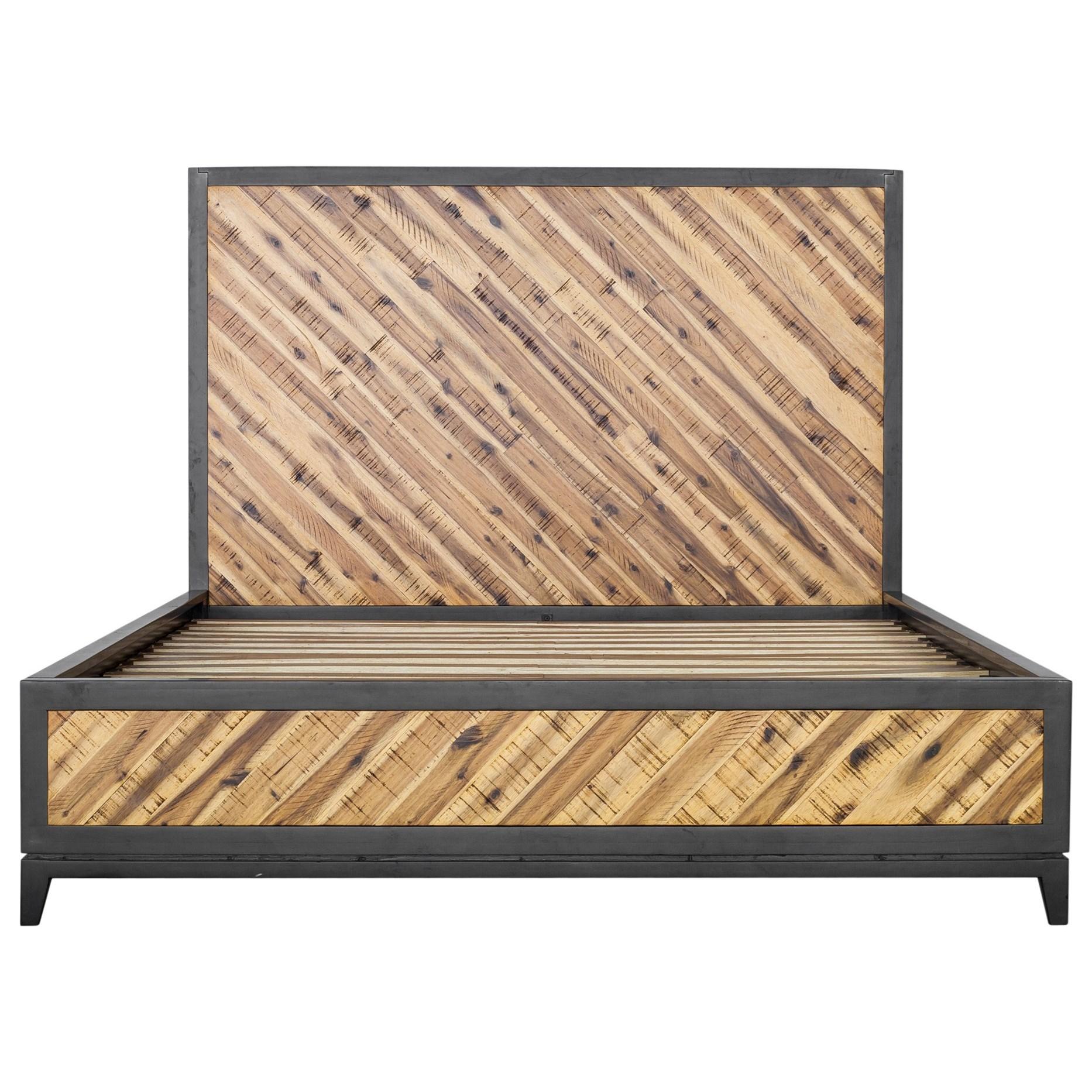 Queen Acacia Platform Bed