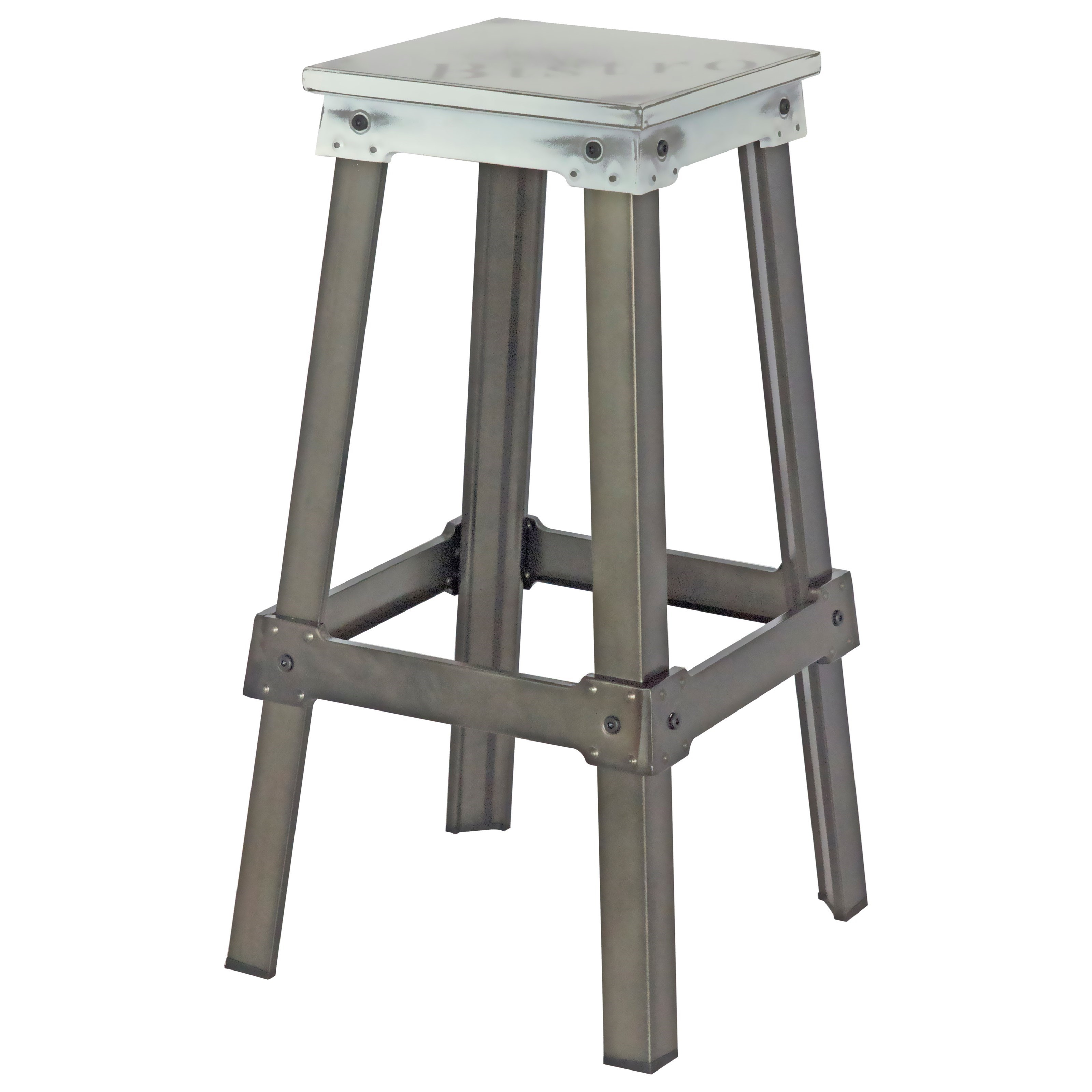 Moe's Home Collection Amelie  Bistro Bar Stool White - Item Number: ZF-1007-18