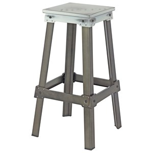 Moe's Home Collection Amelie  Bistro Bar Stool White