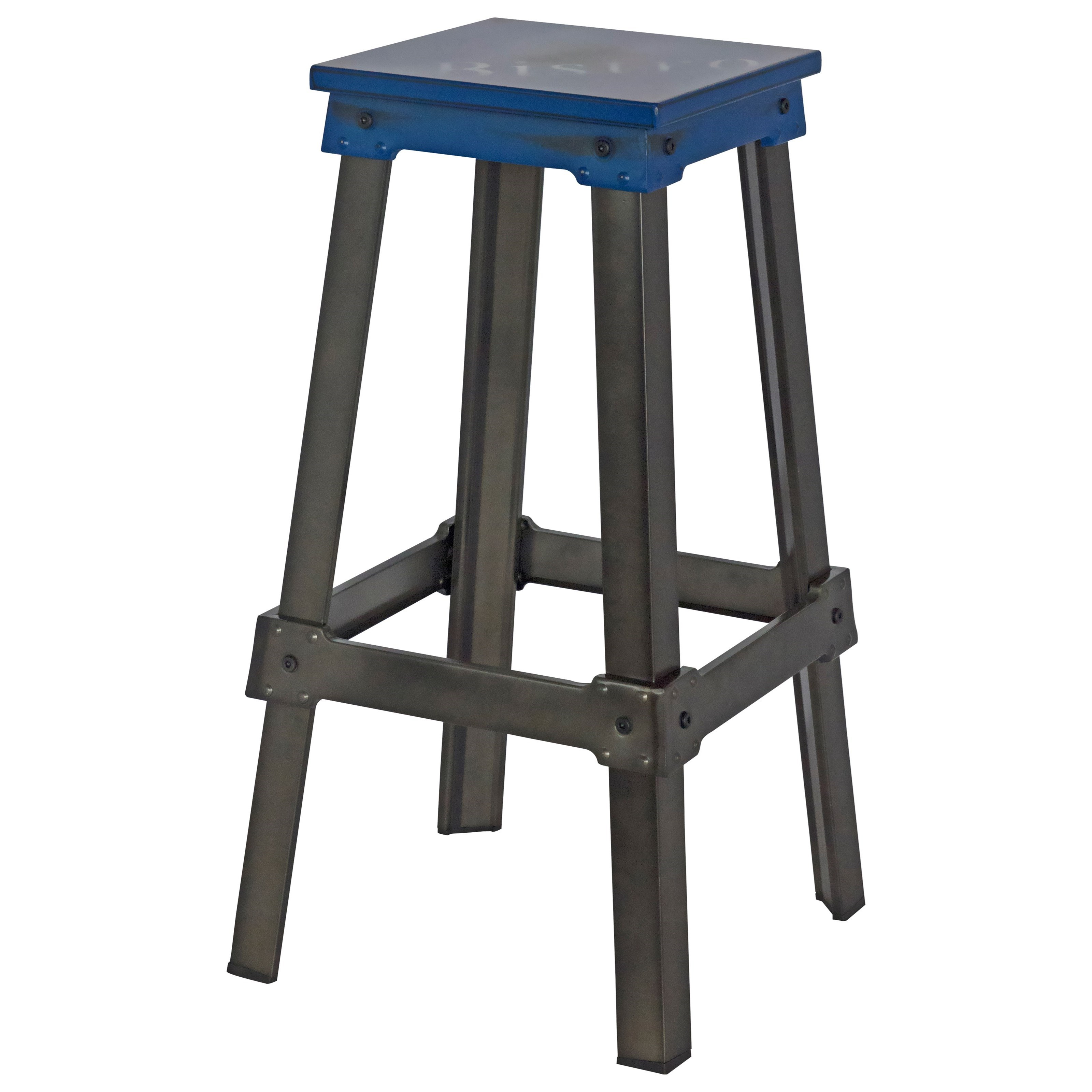 Moe's Home Collection Amelie Bistro Bar Stool Blue - Item Number: ZF-1007-26