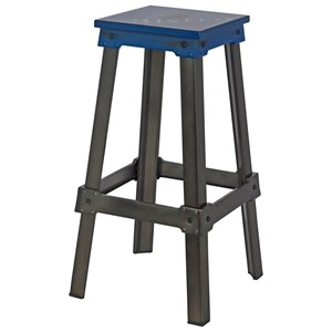 Moe's Home Collection Amelie Bistro Bar Stool Blue