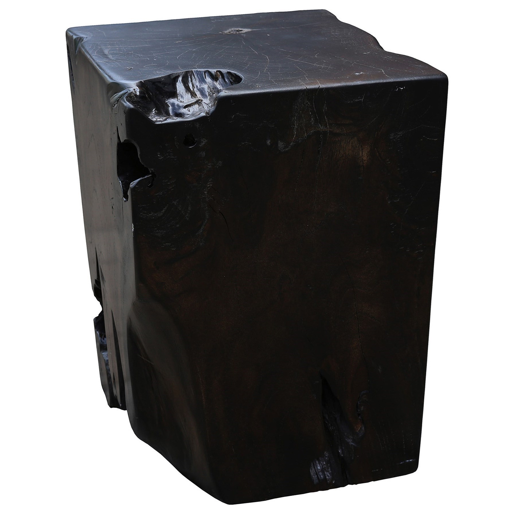 Moe's Home Collection Amigo  Teak Stool Dark Brown - Item Number: EI-1047-20