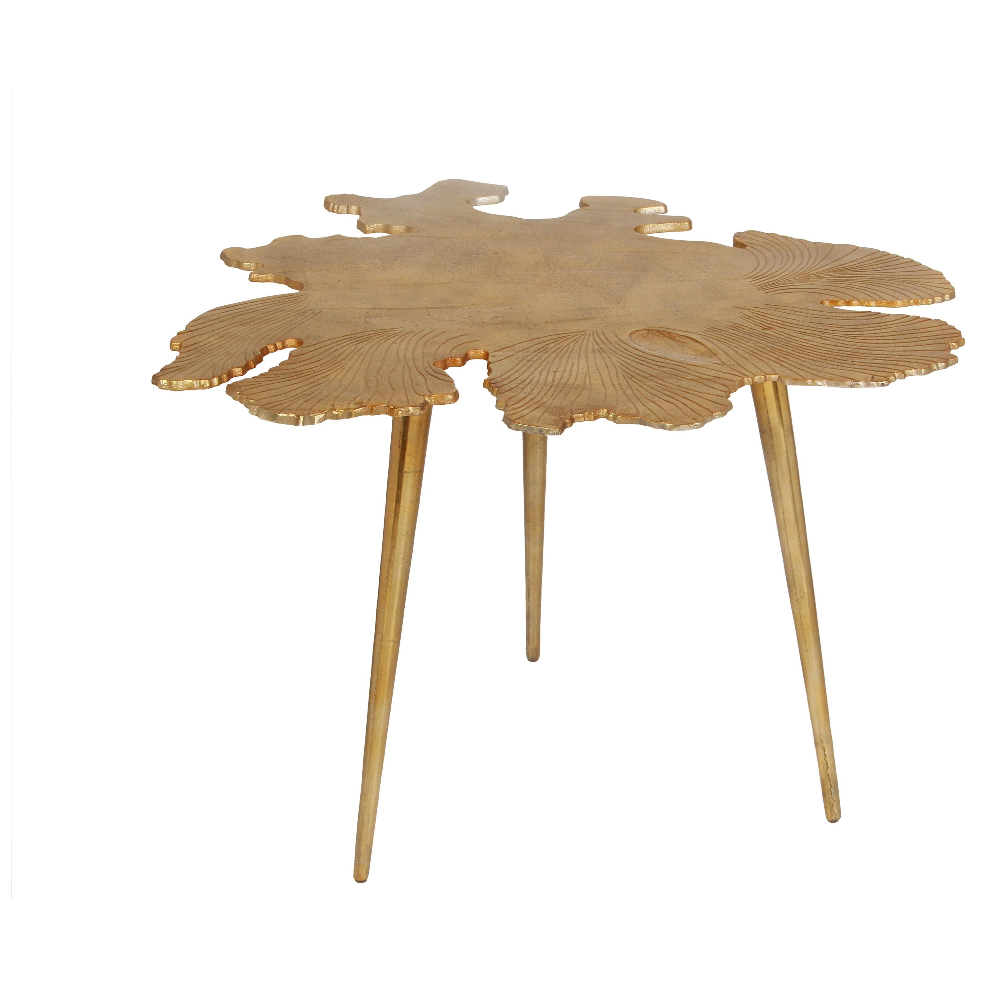 Moe's Home Collection Amoeba   Side Table Gold - Item Number: FI-1006-32