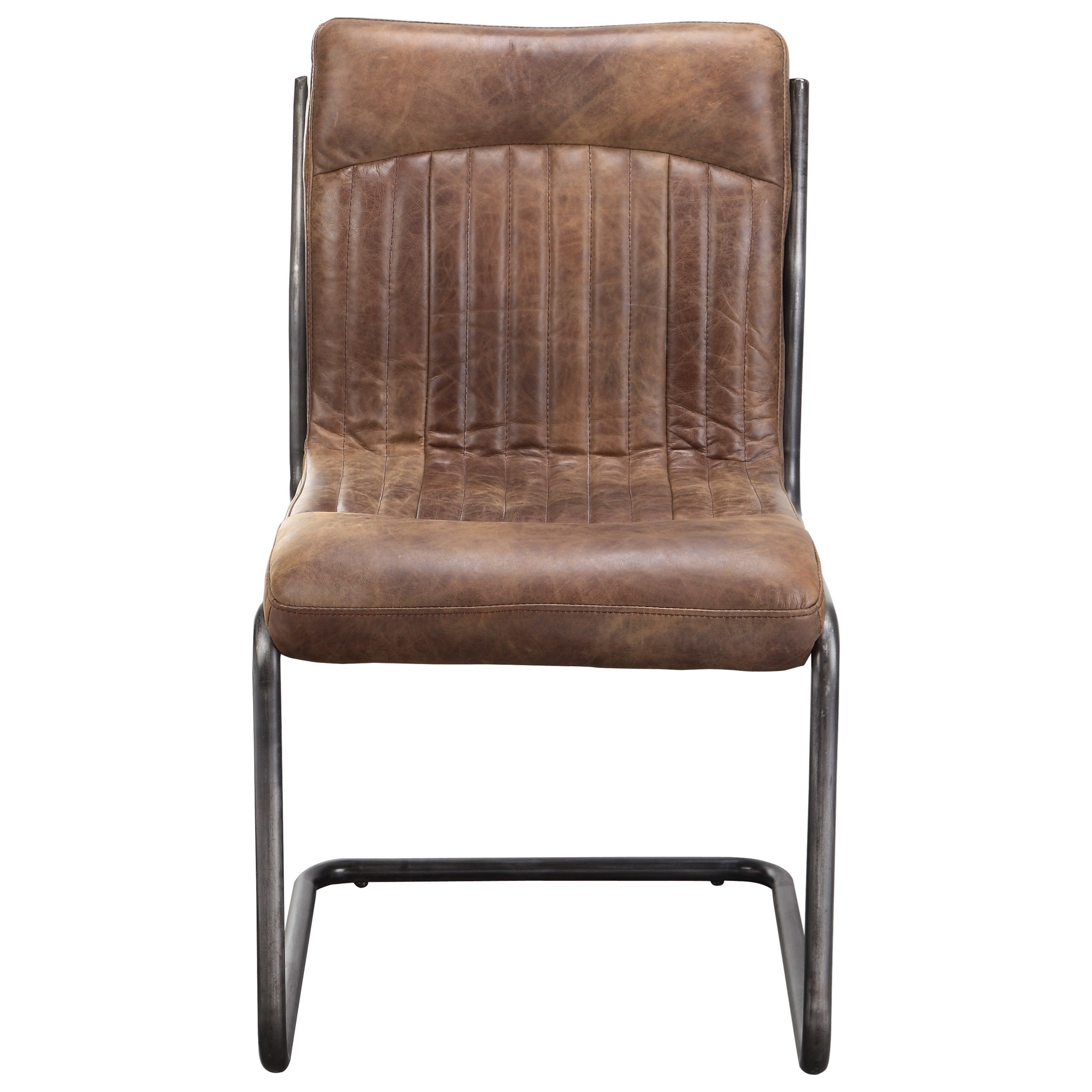 Moe's Home Collection Ansel  Dining Chair - Light Brown - M2 - Item Number: PK-1043-03