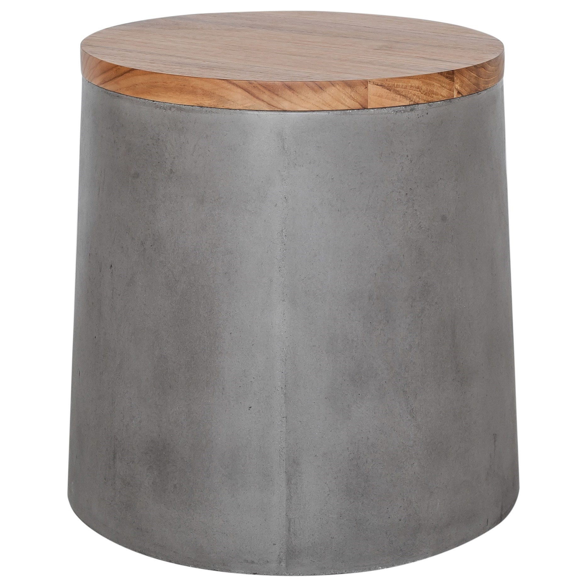 Concrete Outdoor Storage Stool