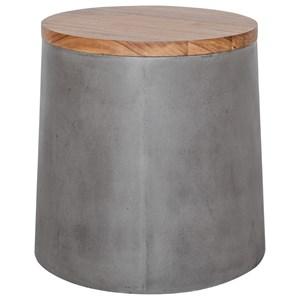 Concrete Outdoor Storage Stool