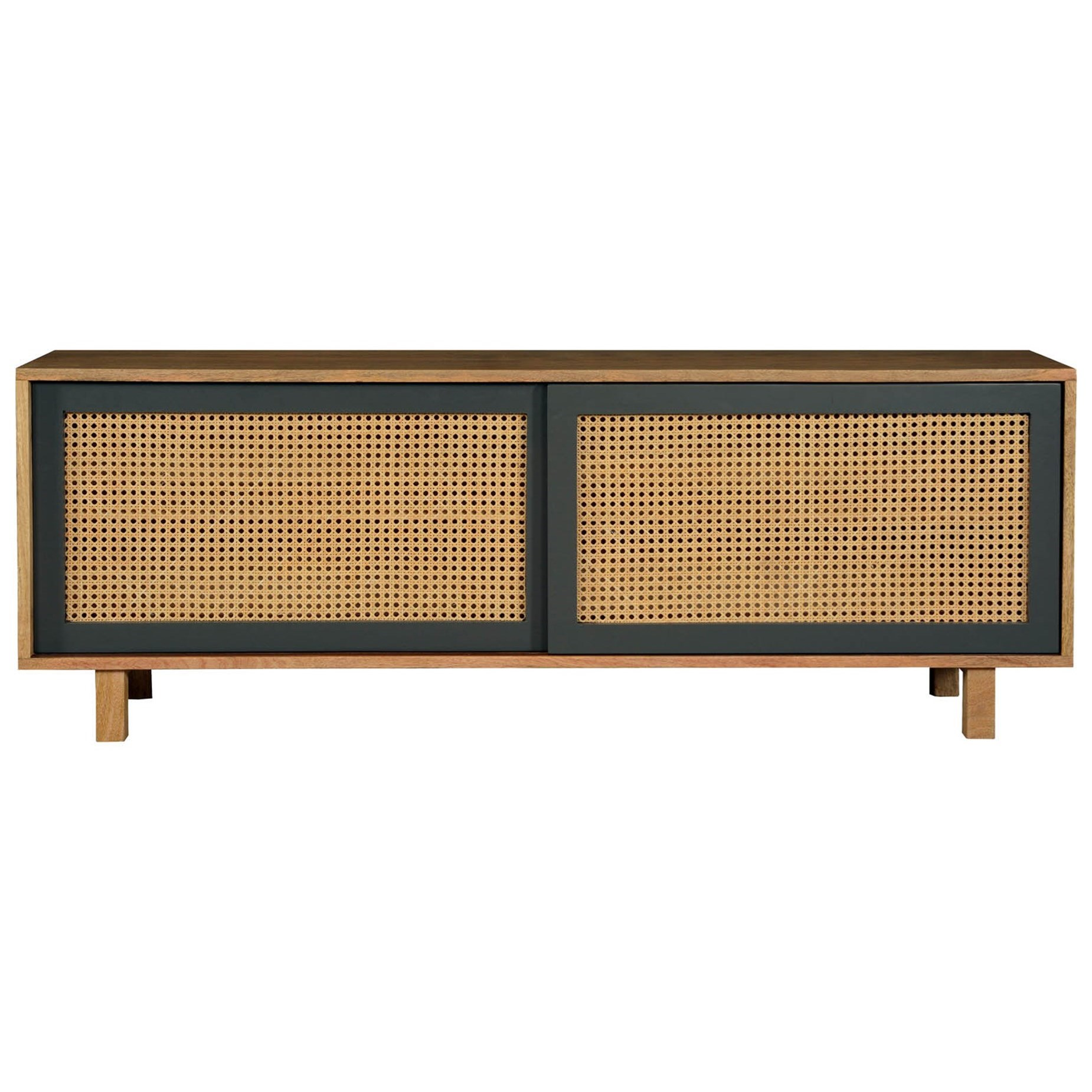 Ashton Woven Cane Media Console by Moe's Home Collection at Stoney Creek Furniture