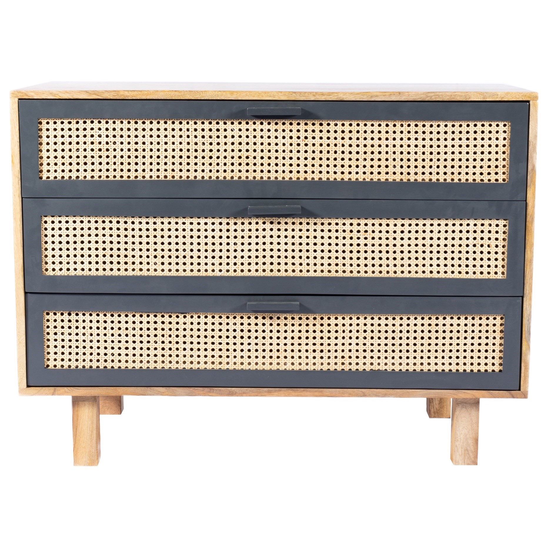 Woven Cane Accent Chest
