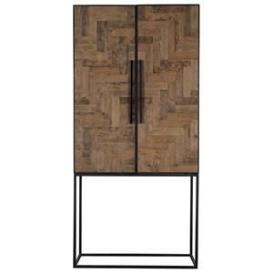 Oak Herringbone Cabinet