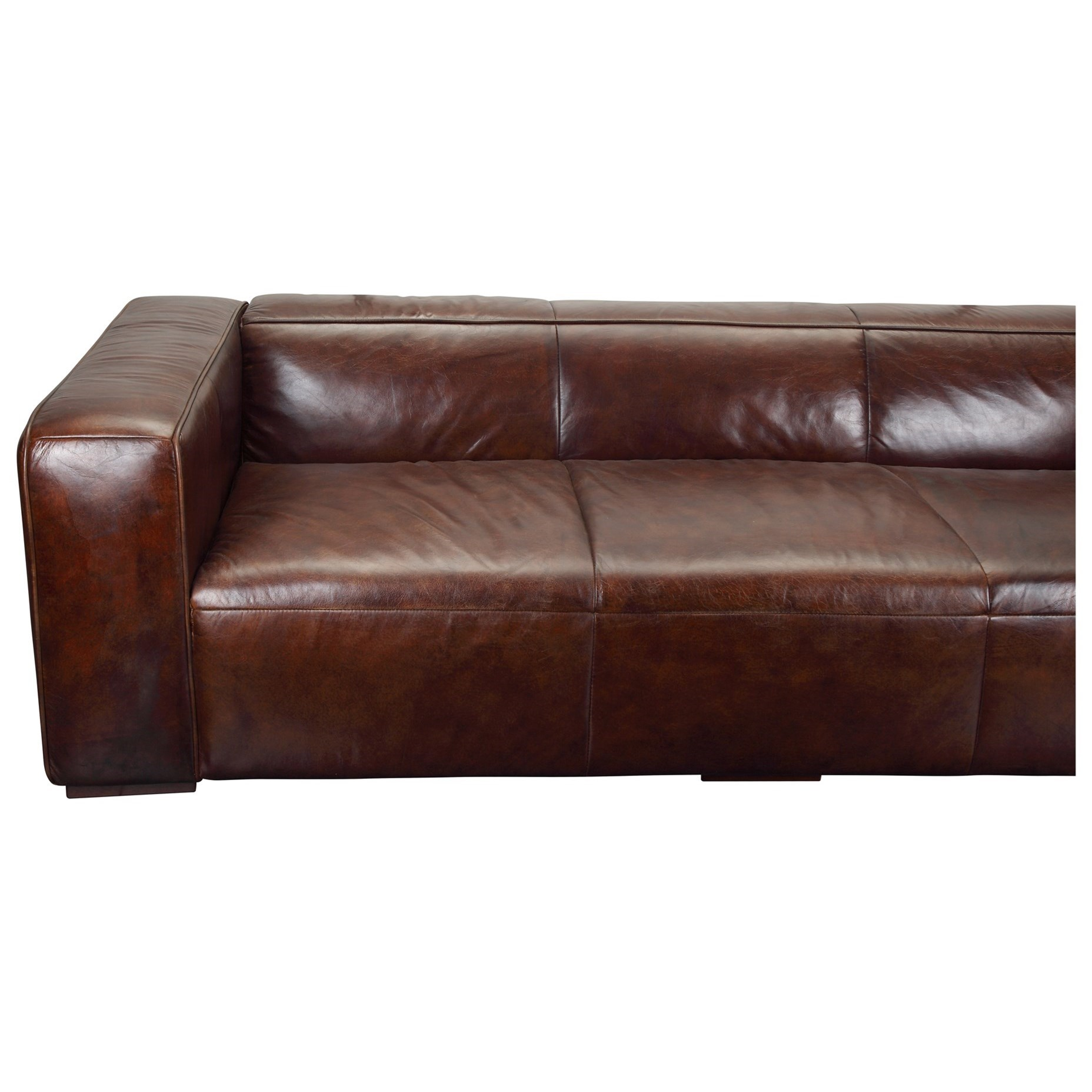 Leather Furniture Traveler Collection: Moe's Home Collection Bolton Top Grain Leather Sofa