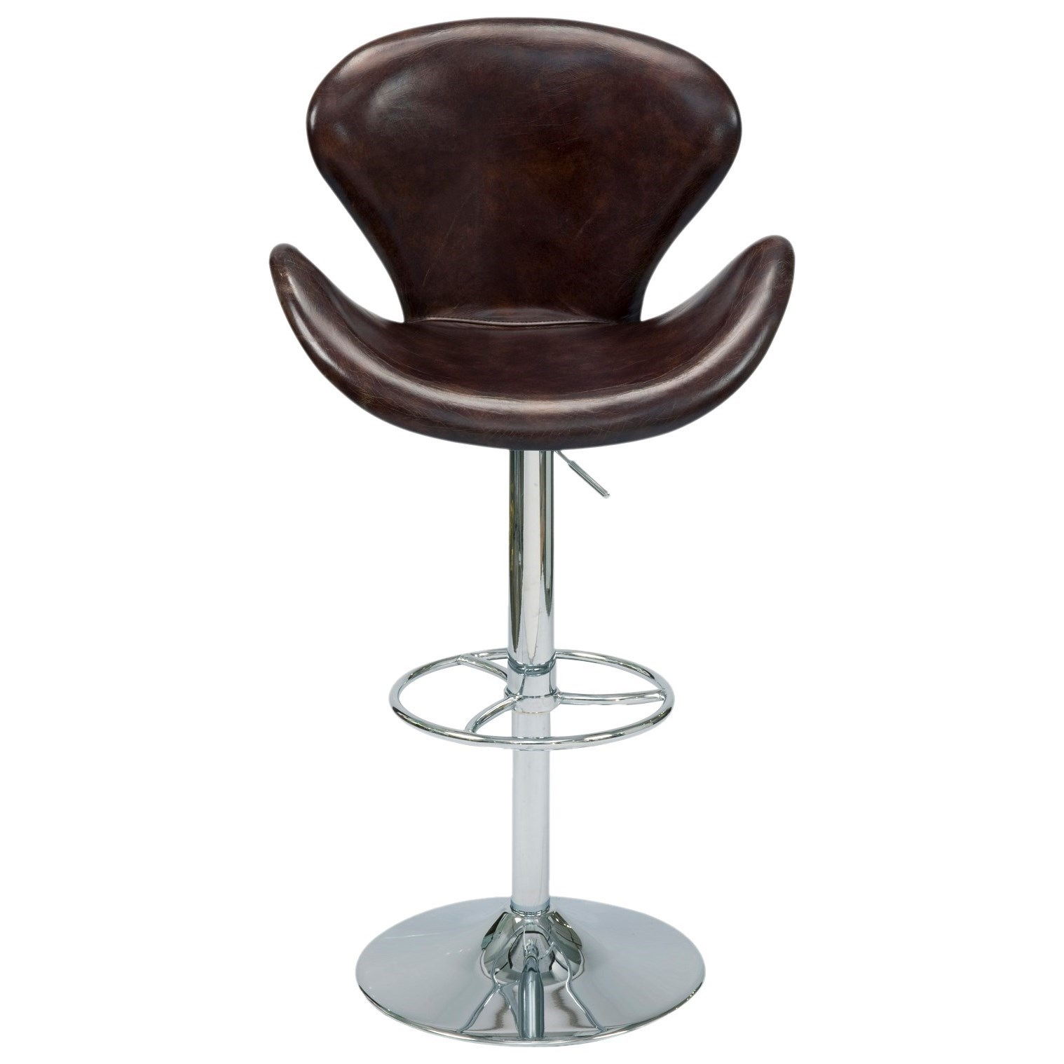 Adjustable Leather Swivel Stool